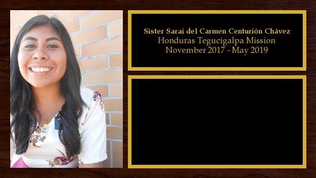 November 2017 to May 2019<br/>Sister Sarai del Carmen Centurión Chávez