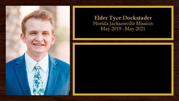 May 2019 to May 2021<br/>Elder Tyce Dockstader