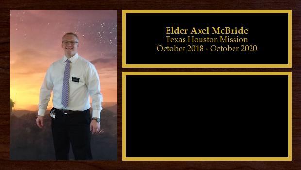 October 2018 to October 2020<br/>Elder Axel McBride