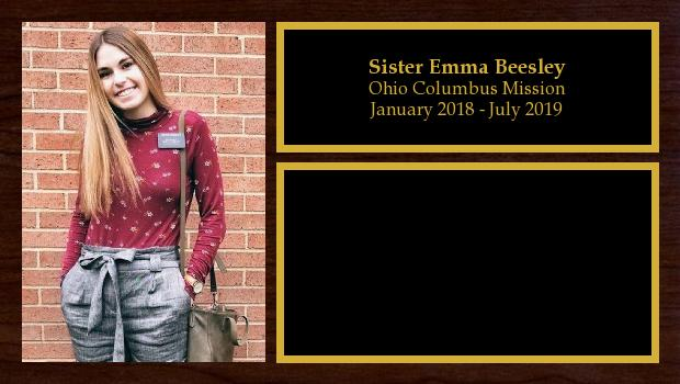 January 2018 to July 2019<br/>Sister Emma Beesley