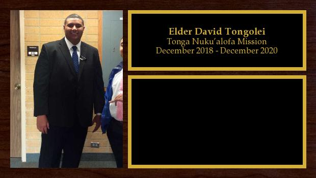 December 2018 to December 2020<br/>Elder David Tongolei