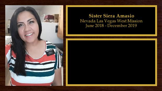 June 2018 to December 2019<br/>Sister Siera Amasio