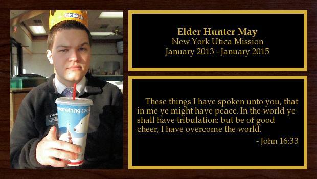 January 2013 to January 2015<br/>Elder Hunter May