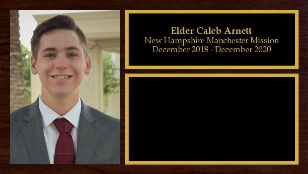 December 2018 to December 2020<br/>Elder Caleb Arnett