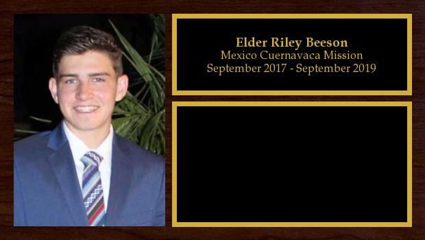 September 2017 to August 2019<br/>Elder Riley Beeson