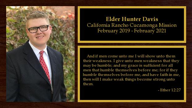 February 2019 to February 2021<br/>Elder Hunter Davis