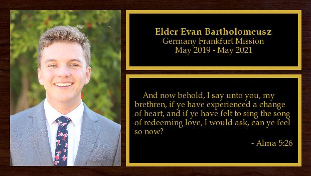 May 2019 to May 2021<br/>Elder Evan Bartholomeusz