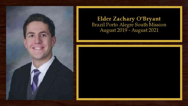 August 2019 to August 2021<br/>Elder Zachary O'Bryant