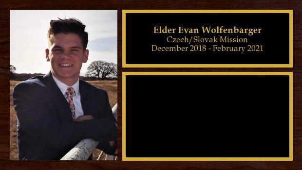 December 2018 to December 2020<br/>Elder Evan Wolfenbarger
