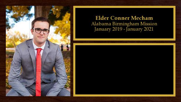 January 2019 to January 2021<br/>Elder Conner Mecham