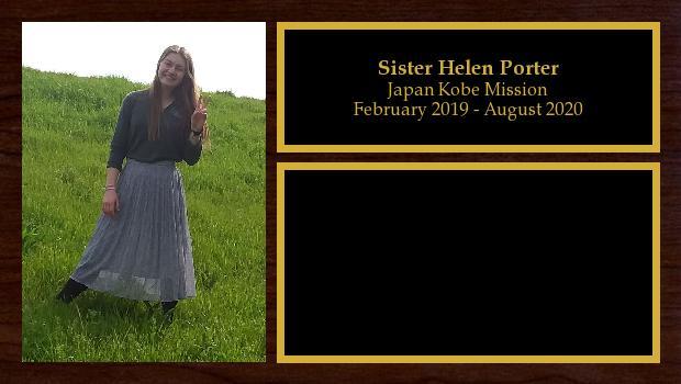 February 2019 to August 2020<br/>Sister Helen Porter