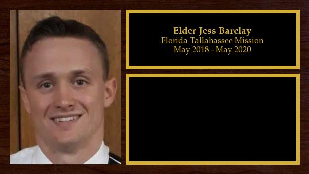 May 2018 to May 2020<br/>Elder Jess Barclay