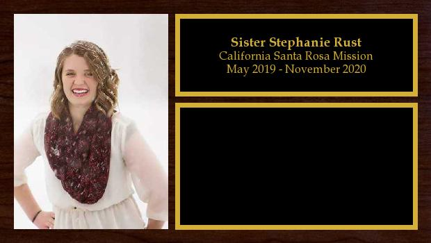May 2019 to November 2020<br/>Sister Stephanie Rust
