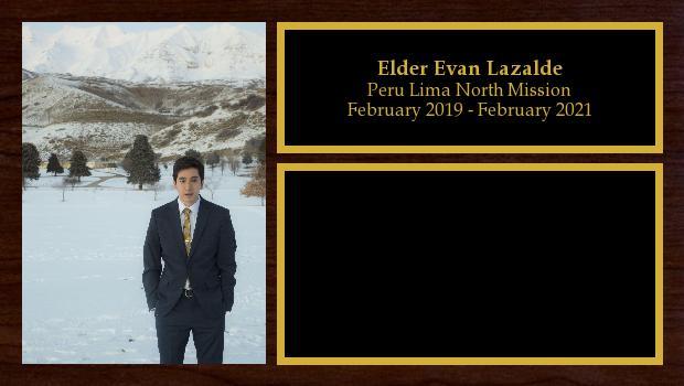 February 2019 to February 2021<br/>Elder Evan Rex Lazalde