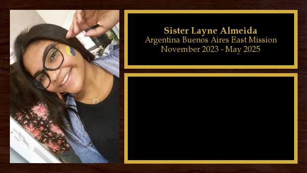 March 2019 to September 2023<br/>Sister Layne Almeida