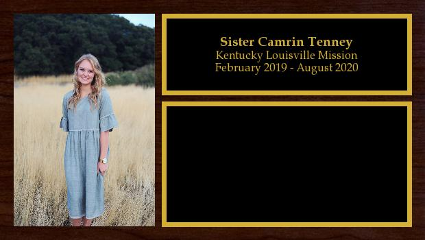 February 2019 to August 2020<br/>Sister Camrin Tenney