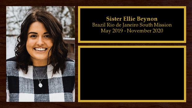May 2019 to November 2020<br/>Sister Ellie Beynon