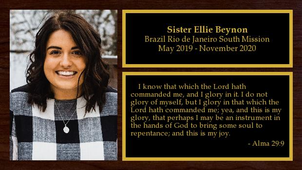 May 2019 to November 2020<br/>Sister Ellie Beynon