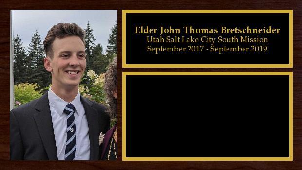 September 2017 to September 2019<br/>Elder John Thomas Bretschneider