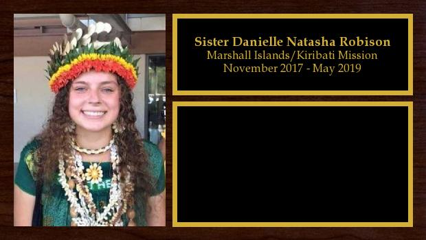November 2017 to May 2019<br/>Sister Danielle Natasha Robison