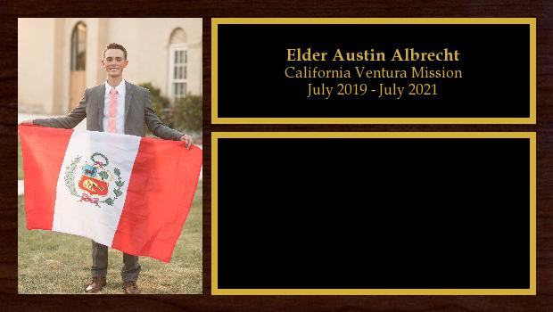 July 2019 to July 2021<br/>Elder Austin Albrecht