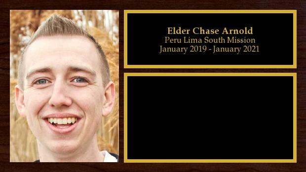 January 2019 to January 2021<br/>Elder Chase Arnold