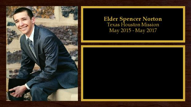 May 2015 to May 2017<br/>Elder Spencer Norton