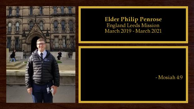 March 2019 to March 2021<br/>Elder Philip Penrose