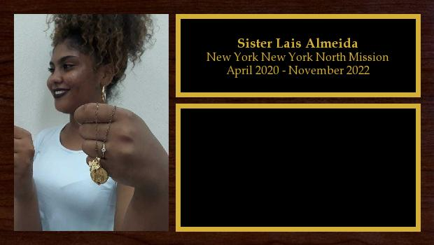 April 2020 to November 2022<br/>Sister Lais Almeida