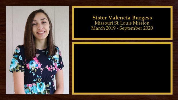 March 2019 to September 2020<br/>Sister Valencia Burgess