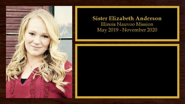 May 2019 to November 2020<br/>Sister Elizabeth Anderson