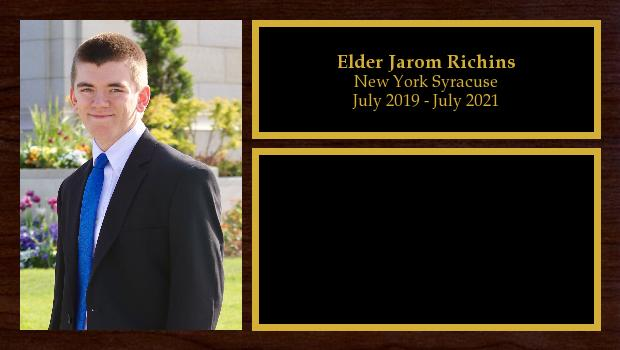 July 2019 to July 2021<br/>Elder Jarom Richins