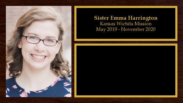 May 2019 to November 2020<br/>Sister Emma Harrington