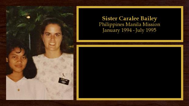 January 1994 to July 1995<br/>Sister Caralee Bailey