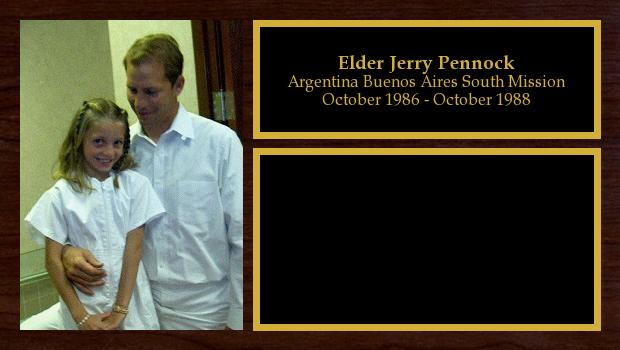 October 1986 to October 1988<br/>Elder Jerry Pennock