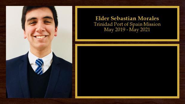 May 2019 to May 2021<br/>Elder Sebastian Morales