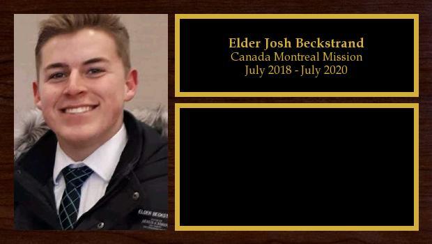 July 2018 to July 2020<br/>Elder Josh Beckstrand
