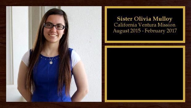 August 2015 to February 2017<br/>Sister Olivia Mulloy