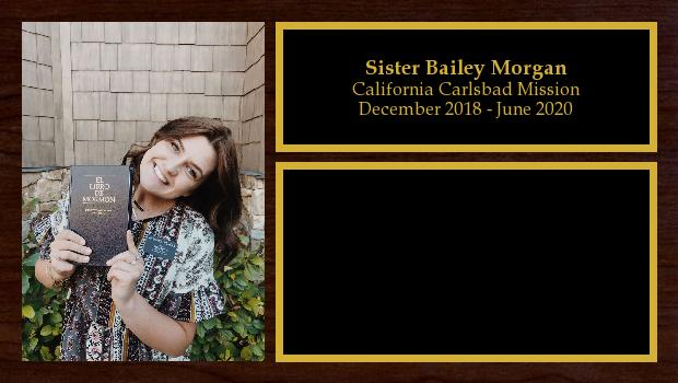 December 2018 to June 2020<br/>Sister Bailey Morgan