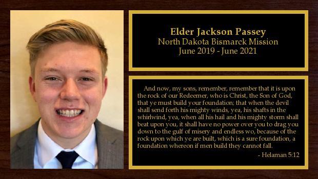 June 2019 to June 2021<br/>Elder Jackson Passey