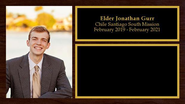 February 2019 to February 2021<br/>Elder Jonathan Gurr