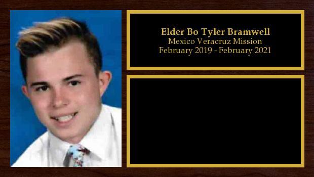 February 2019 to February 2021<br/>Elder Bo Tyler Bramwell