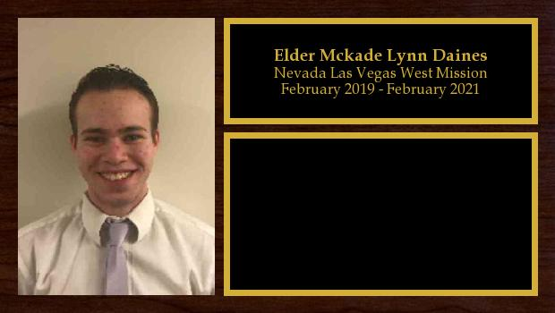 February 2019 to February 2021<br/>Elder Mckade Lynn Daines