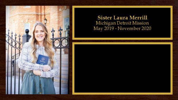 May 2019 to November 2020<br/>Sister Laura Merrill