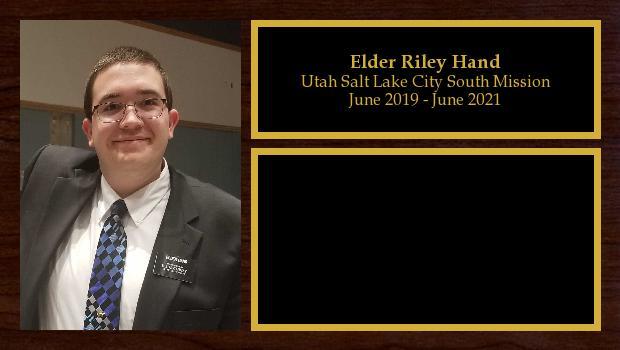 June 2019 to June 2021<br/>Elder Riley Hand