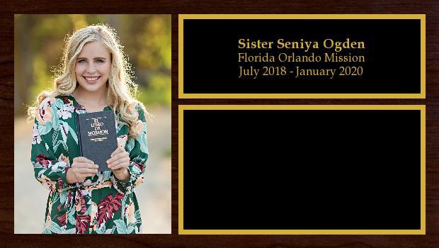 July 2018 to January 2020<br/>Sister Seniya Ogden