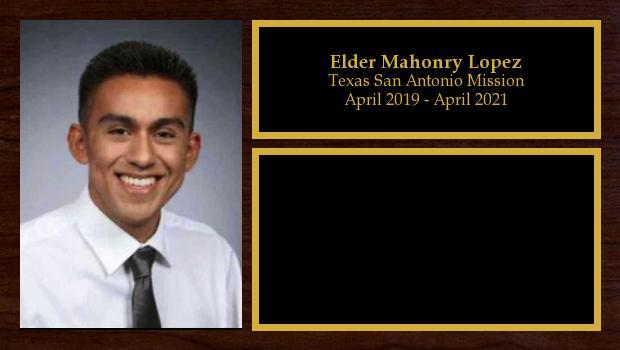 April 2019 to April 2021<br/>Elder Mahonry Lopez