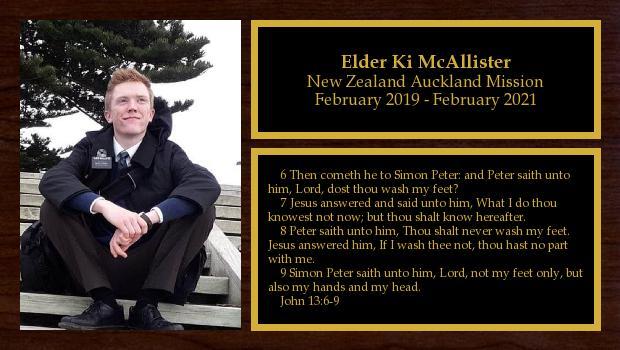 February 2019 to February 2021<br/>Elder Ki McAllister