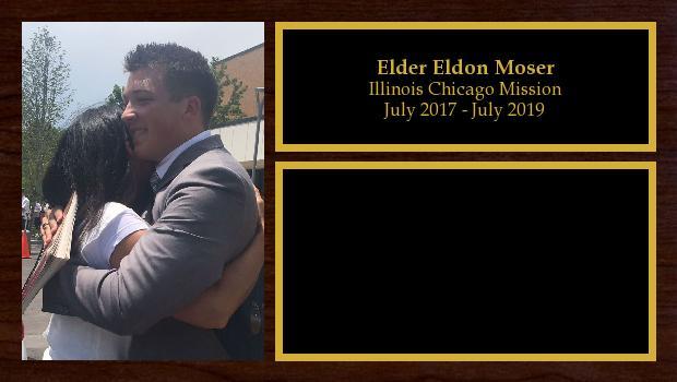 July 2017 to July 2019<br/>Elder Eldon Moser