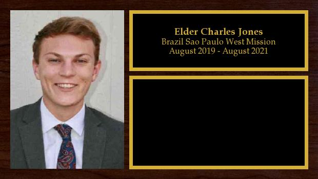 August 2019 to August 2021<br/>Elder Charles Jones